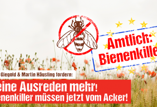 Plakat: Amtlich: Bienenkiller