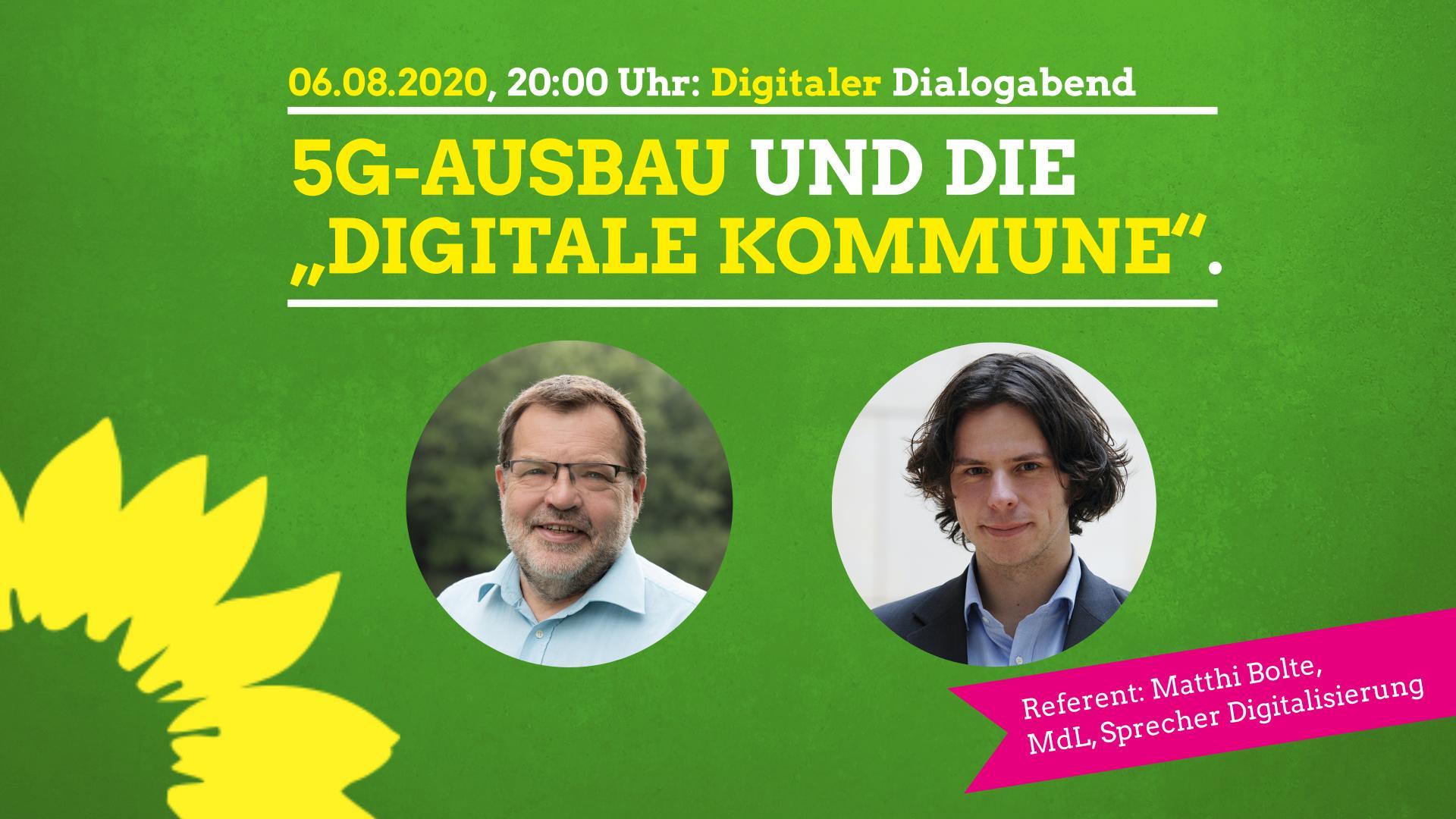 """Digitaler Dialogabend: 5G Ausbau und """"Digitale Kommune"""""""